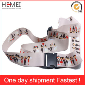 Custom Woven Polyester Travel Luggage Strap Belt pictures & photos