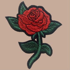 Pakistani Applique Designs Iron on Rose Appliques pictures & photos