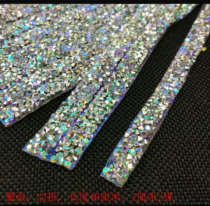 Crystal Ab 1cm Width Rhinestone Chain Hotfix Strass Crystal Trimmings for Garment Shoes Headband Decoration (TS-038) pictures & photos