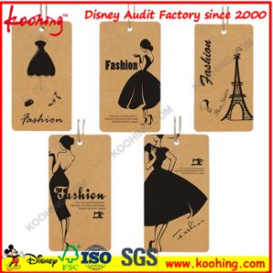 Small Square Kraft Paper Label Tag with Die Cut Hole OEM Welcome pictures & photos