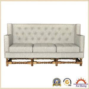 Home Furniture Living Room Sofa Tuft Linen Fabric Upholstered Sectional Sofa Seat pictures & photos