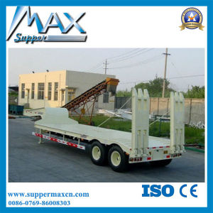 ISO CCC Approved 2 Axle Low Flatbed Semi Trailer pictures & photos
