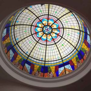 High Quality Materials Exterior Large Suspended Stained Glass Panels ceiling for Home pictures & photos