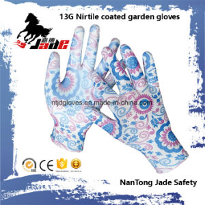 13G Nitrile Coated Garden Work Glove pictures & photos
