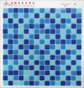 Blue Withdot Glass Mosaic Cheap pictures & photos