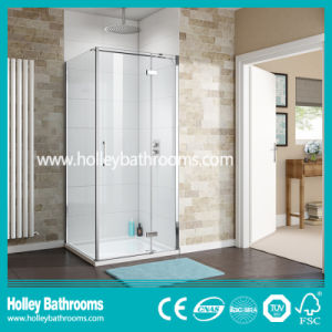 Square Shower Hinged screen with Aluminium Hardware (SE911C) pictures & photos
