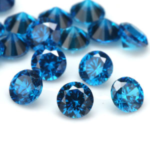 Dark Blue Aquamarine Round Brillant Cut Cubic Zirconia pictures & photos