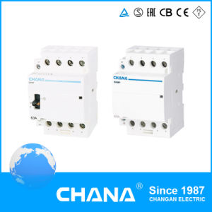 Popular Electromagnetic 4p 240V 63A Modular Contactor with Ce RoHS Approval pictures & photos