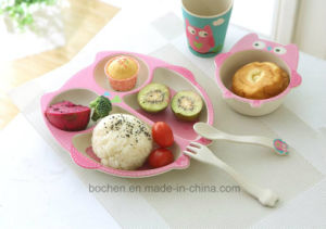 BPA Free Bamboo Fiber Tableware Kids Dinnerware Set (BC-BB-SU2009) pictures & photos