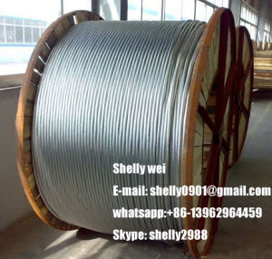 "¼ "" Ehs 6.6m Galvanized Strand (Guy or Messenger Wire) on a Continuous Wooden Reel with 500 pictures & photos"