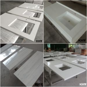 Ce Solid Surface Bathroom Vanity Marble Top with Basin (V170728) pictures & photos