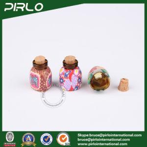 2ml Triangular Shape Glass Cork Bottle Wooden Cork Stopper pictures & photos