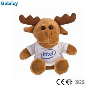 Competitive Price Factory Custom Plush Toy Reindeer with Cotton Shirt pictures & photos