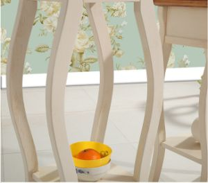 Simple Solid Wood Circular Flower Stand pictures & photos