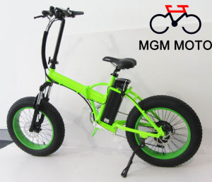 20inch Fat Tire Big Power 500W Electric Folding Bike pictures & photos