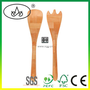 Bamboo Mixing Spoon/ Spork/Fork / Kitchenware/ Cook Utensil/ Crafts/ Wooden/ Dinner Set/ Soup/ Cookware/ Bake Ware/ Salad / Cutlery (LC-F010W)