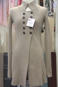 Women′s Polo Neck Cashmere Cardigan (CPC1105L) pictures & photos