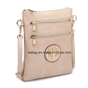 Designer Women PU Leather Crossbody Bag Zipper Messenger Bag pictures & photos