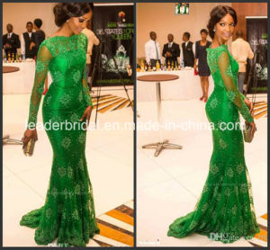 Celebrity Cocktail Party Gown Vestidos Green Lace Prom Evening Dress E14104 pictures & photos