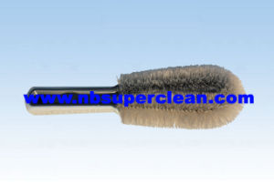 Plastic Car Wheel Wash Cleaning Wheel Brush Tire Brush (CN1881) pictures & photos