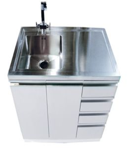 White Stainless Steel Laundry Tub Cabinet (1000)