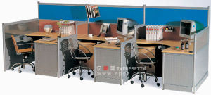 Office Desk for 2 People /2 Person Office Desk /2 Seat Office Desk pictures & photos