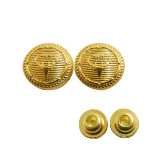 Antler Pattern Golden Round Metal Button for Garment pictures & photos