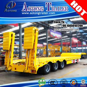 Good Quality Hydraulic Ladder Low Loader Semi Trailer pictures & photos