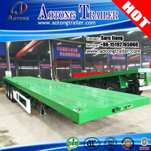 China Manufacturer 20ft/40ft Flat Bed Container Semi Trailer pictures & photos