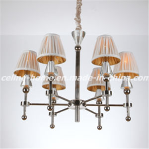 Decorative Iron Chandelier with Fabric Shade (SL2051-6) pictures & photos