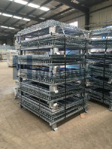 Rigid Large Stack Storage Wire Mesh Container pictures & photos