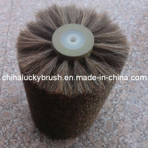 China Manufacture Horse Hair Material Shoe Polishing Wheel Brush (YY-007) pictures & photos
