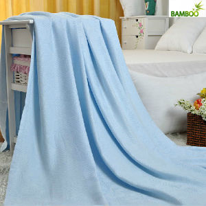 Custom Natural Bacteriostatic 100% Pure Bamboo Blanket pictures & photos