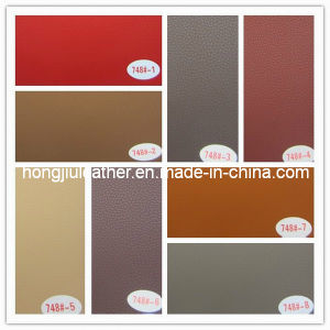 High Tearing Strength PVC Car Seat Leather (748#) pictures & photos
