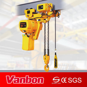 3 Ton Low Headroom Type Electric Chain Hoist (WBH-03002DL) pictures & photos