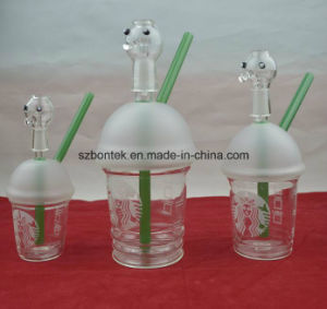 2016 Hot Selling Starbucks Coffee Cup Glass Water Pipe for Smoking pictures & photos
