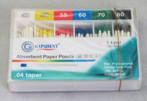Gapadent Absorbent Paper Point. 04 Taper pictures & photos