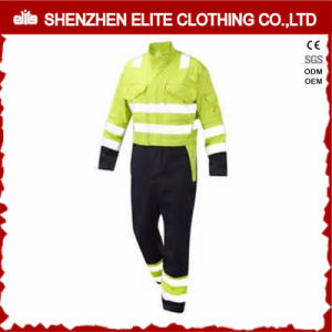 Fluorescent Green Reflective Hi Vis Workwear Safety Coverall (ELTHVCI-20) pictures & photos