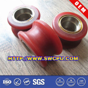 CNC Machining Small Plastic Trolley Pulley (SWCPU-P-W070) pictures & photos