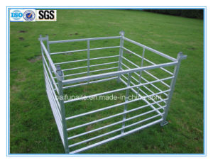 Znic Coated 7 Rails Farm Fencing Panel with Loops pictures & photos
