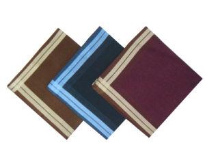 100% Cotton Promotional Border Handkerchief/Cotton Handkerchief pictures & photos