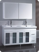 Hottest Sales MDF Bathroom Cabinet with Dual Sinks pictures & photos