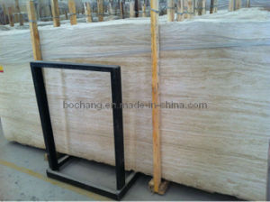 Light Beige Travertino Travertine with Polished Filled pictures & photos