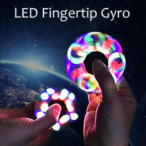 New Funny LED Light Hand Finger Spinner Plastic EDC Hand Spinner for Autism and Adhd Relief Focus Anxiety Stress Gift Toys pictures & photos