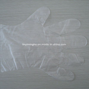 Disposable Plastic PE Folded HDPE LDPE Medical Glove pictures & photos