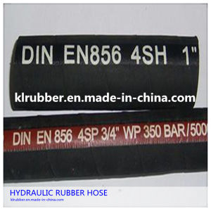 High Pressure Steel Wire Braided Rubber Hydraulic Hose pictures & photos