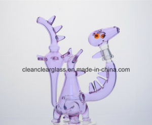Ccg New Colored Dinosaur Shape Glass Water Pipe Smoking Pipe pictures & photos