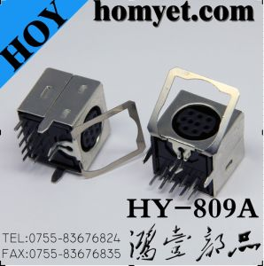 High Quality Mini DIN Connector with Nine Pin for Wiring Equipment (HY-809A) pictures & photos