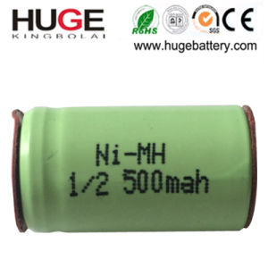 1.2V 1/2 AA 500mAh Ni-MH Rechargeable Battery with Pins (KBL-12AA) pictures & photos
