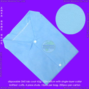 Disposable Coat with Press Studs or Nylon Snaps pictures & photos